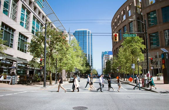 Downtown Vancouver City Street