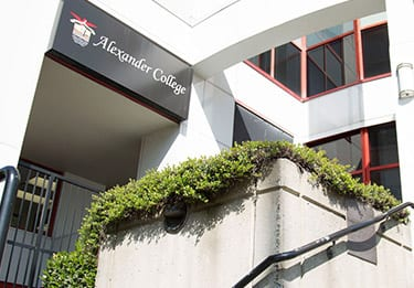 Exterior of Alexander College Burnaby Campus