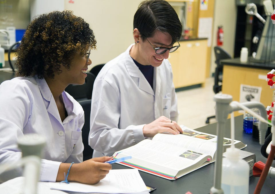 Alexander College Students in a Lab