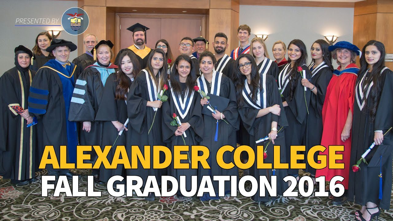 Fall Graduation , Alexander College