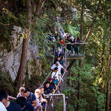 Capilano Suspension Bridge Park in Vancouver