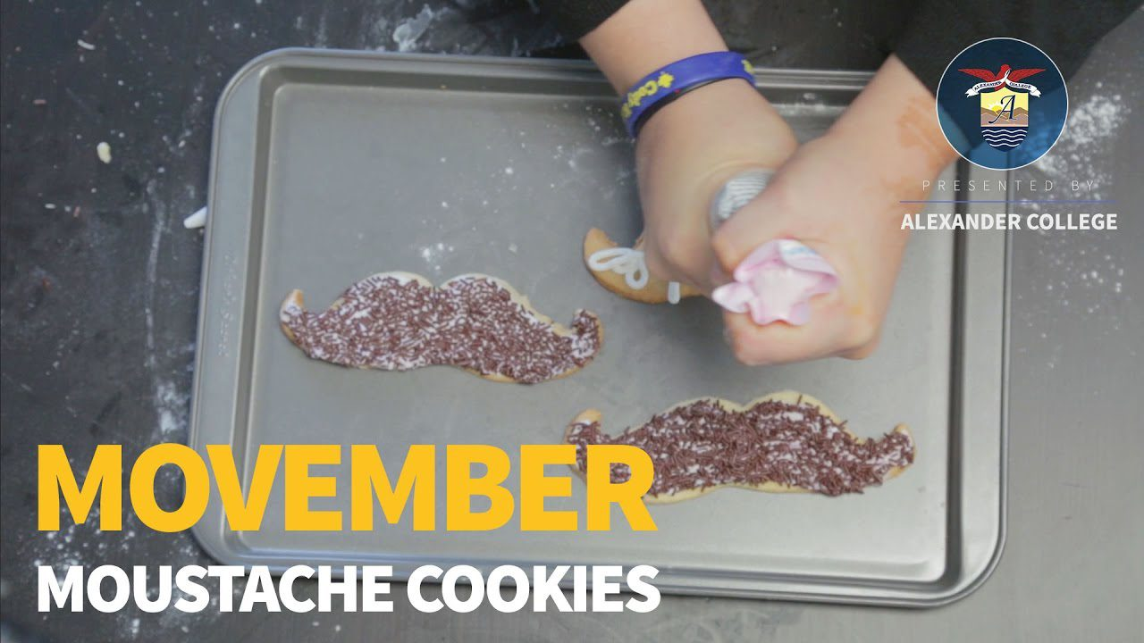Movember Moustache Cookies, Alexander College