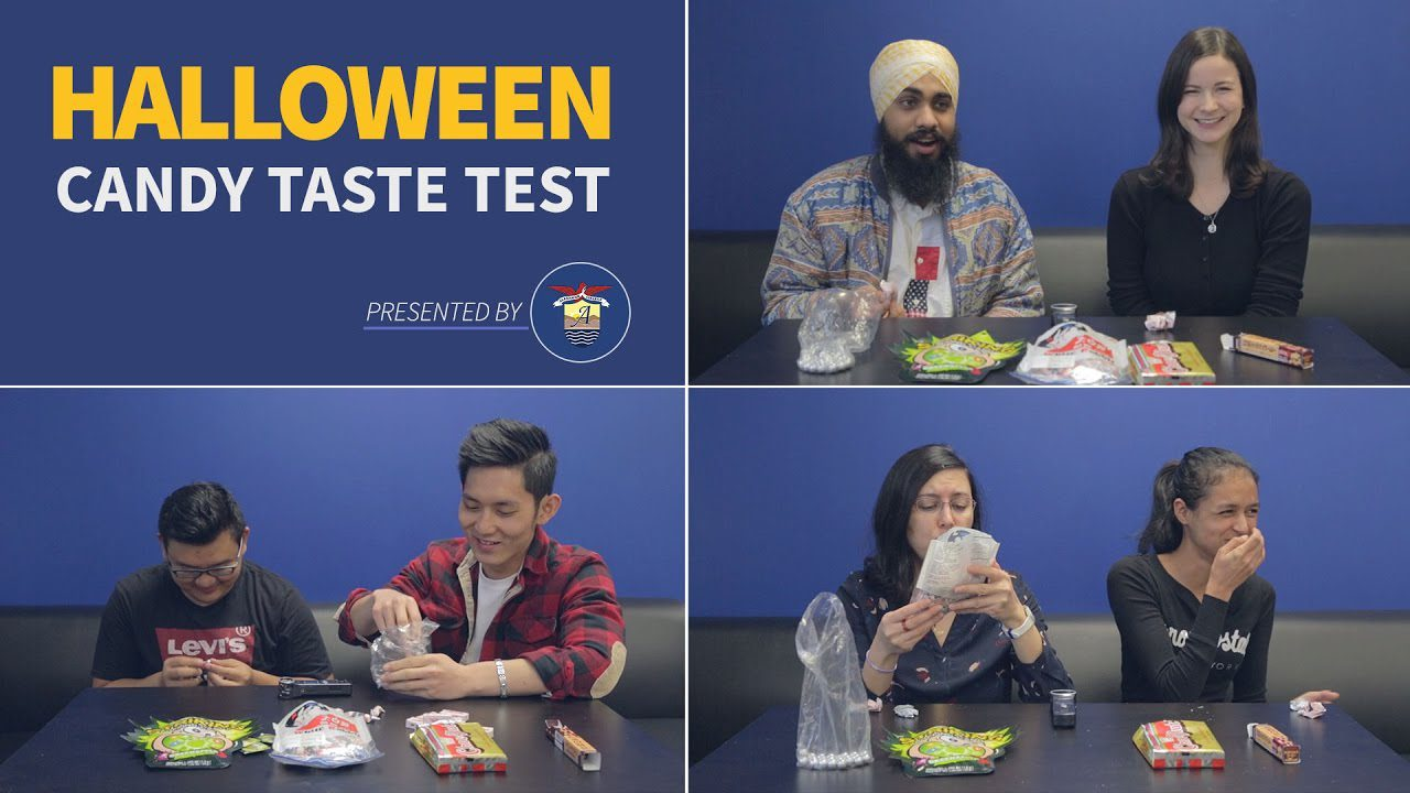 Students Try The Halloween Candy Taste-Test Challenge