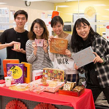 students celebrating Lunar New Year in Vancouver
