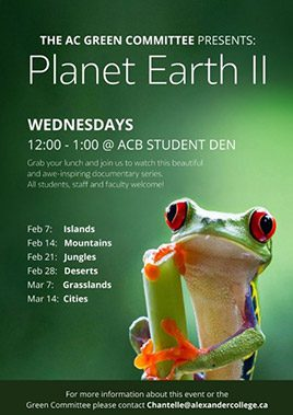College event Planet earth poster