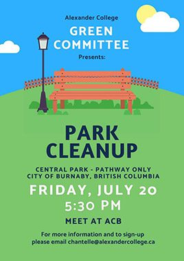 Park Cleanup poster Event