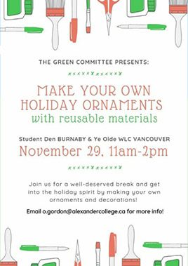 make your own holiday ornaments event
