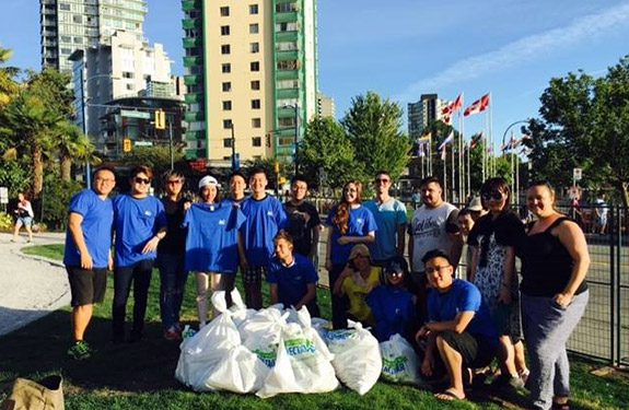 Alexander College Students Beach Cleanup Event