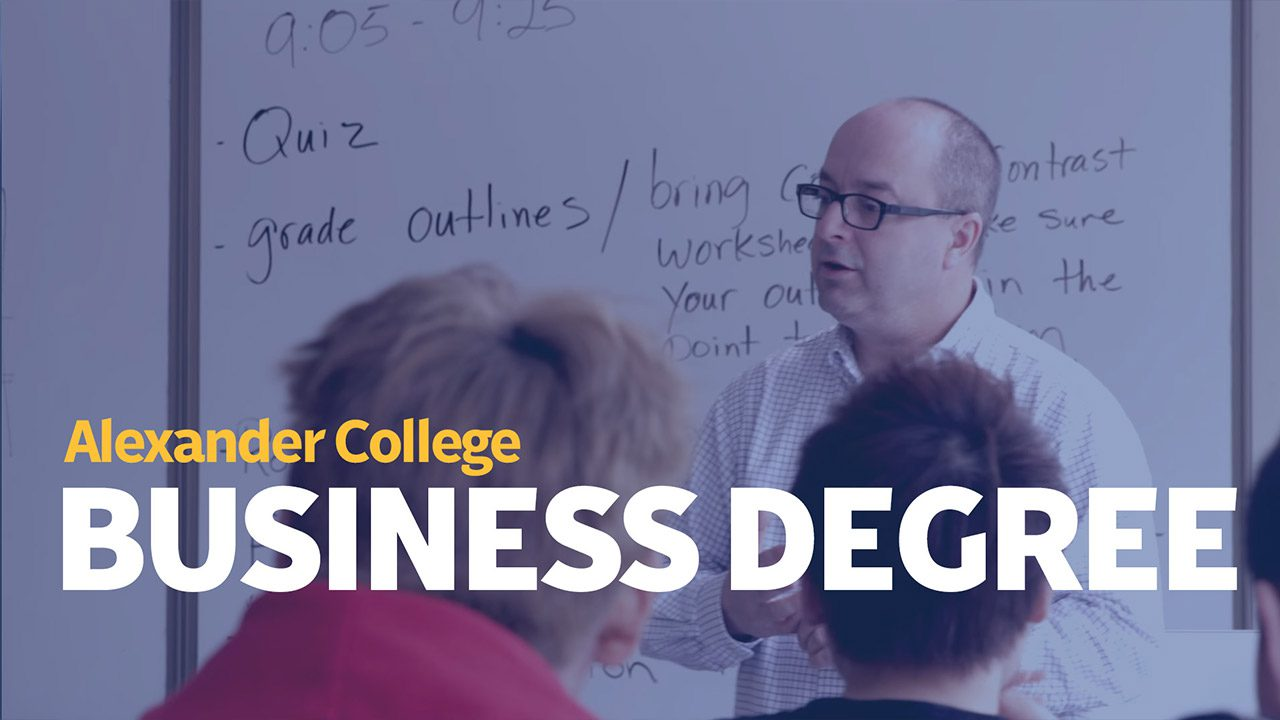 Associate of Arts Business Degree, Alexander College